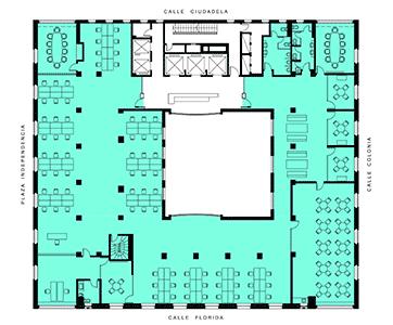 Plano de la oficina planta 1