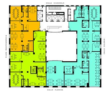 Plano de oficinas planta 3